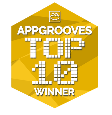 Badge for Top10 Apps in AppGrooves